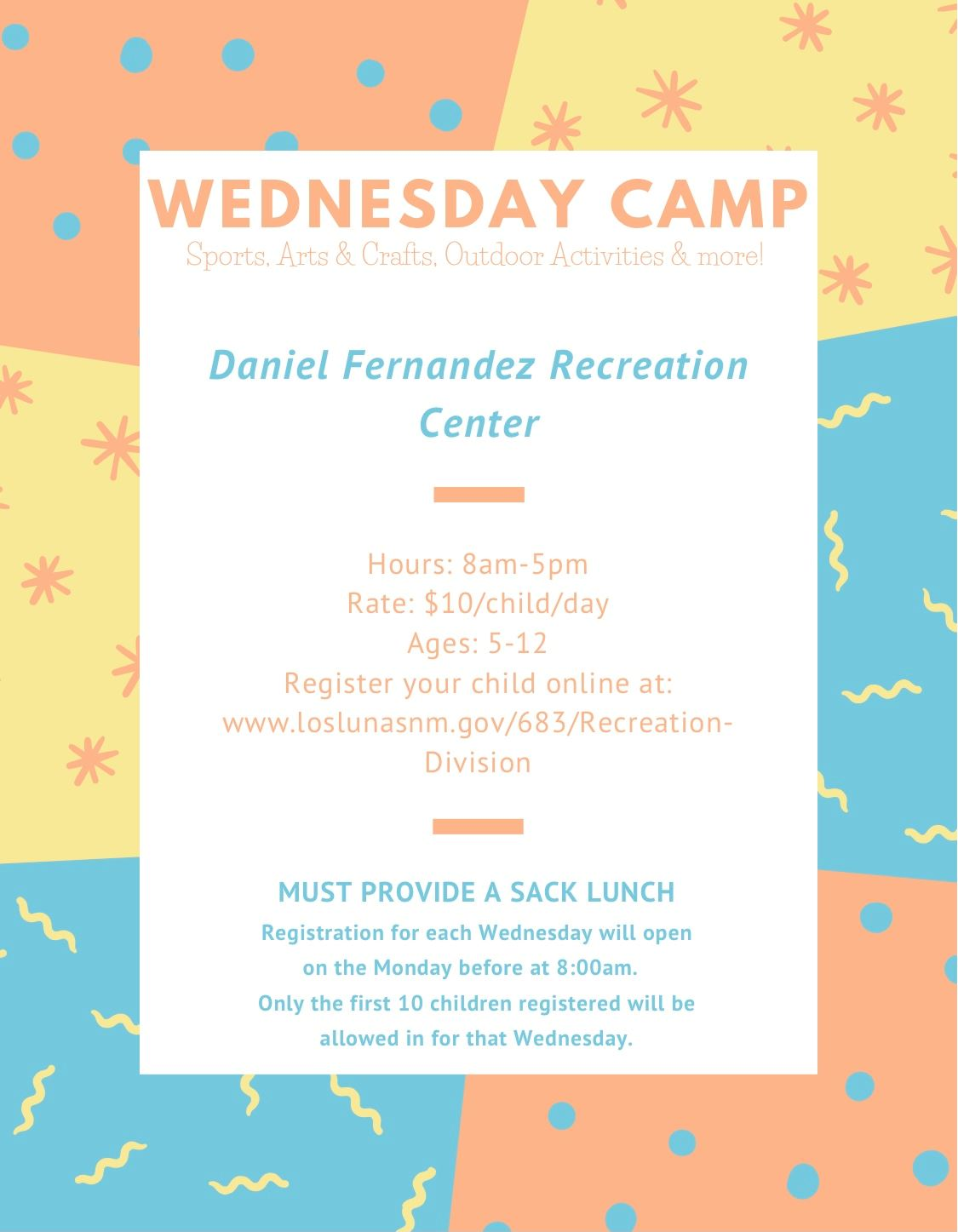Wed Camp Flyer