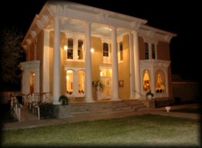 The Luna Mansion at night