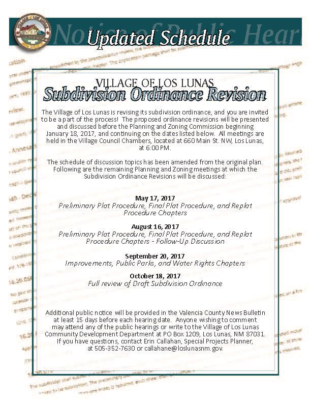 UPDATED_Subdivision Ordinance Flyer_Notice_PZ