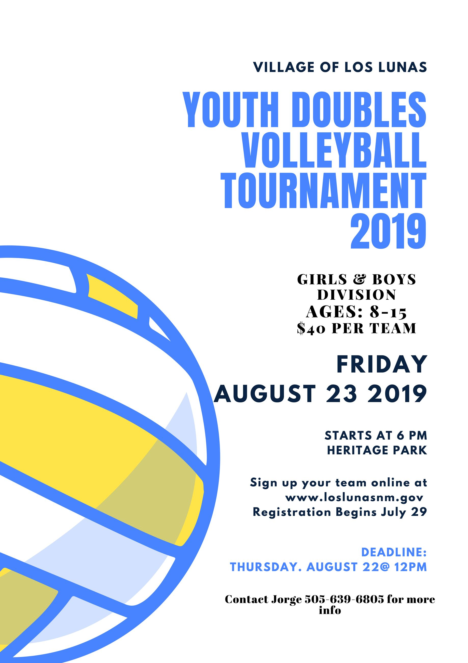 Youth 2v2 volleyball